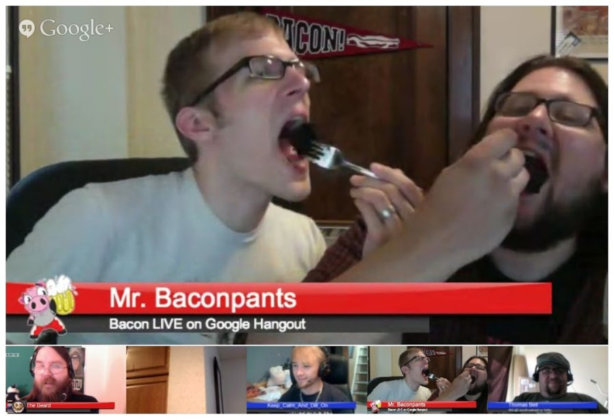 Bacon LIVE Hangout 005 : Cheesy Bacon Bombs Explained
